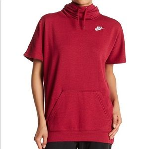 Nike short sleeve over sized hoodie size M